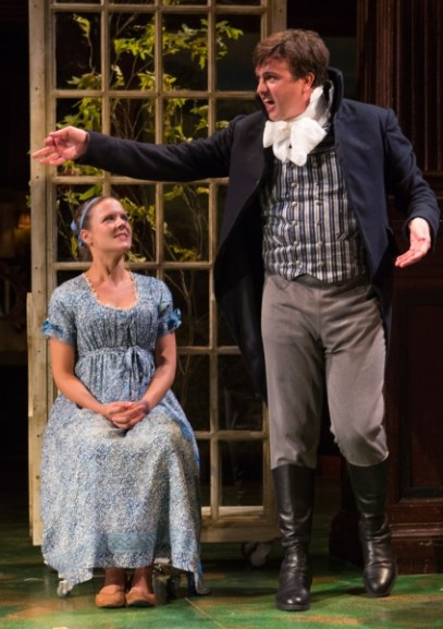 Jamie Smithson as Robert Ferras with Maggie McDowell as Elinor Dashwood.