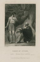 Flavius and Timon, print by Charles Heath, 19th-century. Folger Shakespeare Library.