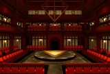 The set rendering for Antony and Cleopatra. Scenic design by Tony Cisek. Photo: Charles Flye.