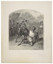 King Henry VI [part 1], act I, scene II [graphic]. Felix Octavius Carr Darley, Folger Shakespeare Library.
