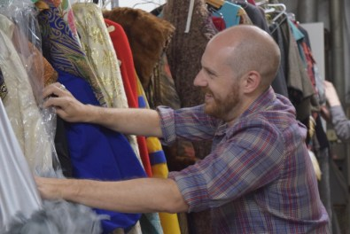 Third Rails Projects' Co-Artistic Director Zach Morris explores Folger Theatre's costume storage.
