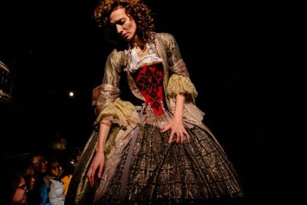 Elizabeth Carena in Confection. Folger Theatre and Third Rail Projects, 2019. Photo: Brittany Diliberto.