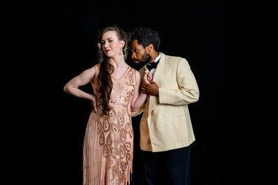 Amelia Pedlow (Princess of France) and Joshua David Robinson (King of Navarre). Love's Labor's Lost, Folger Theatre. 2019. Photo: Brittany Diliberto