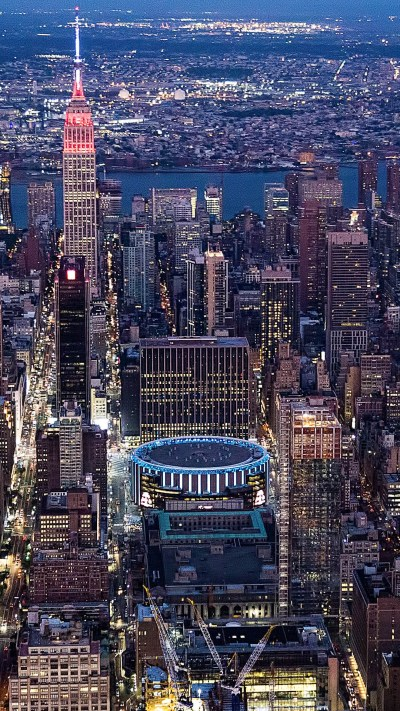 Empire State Building and Madison Square Garden, New York ...