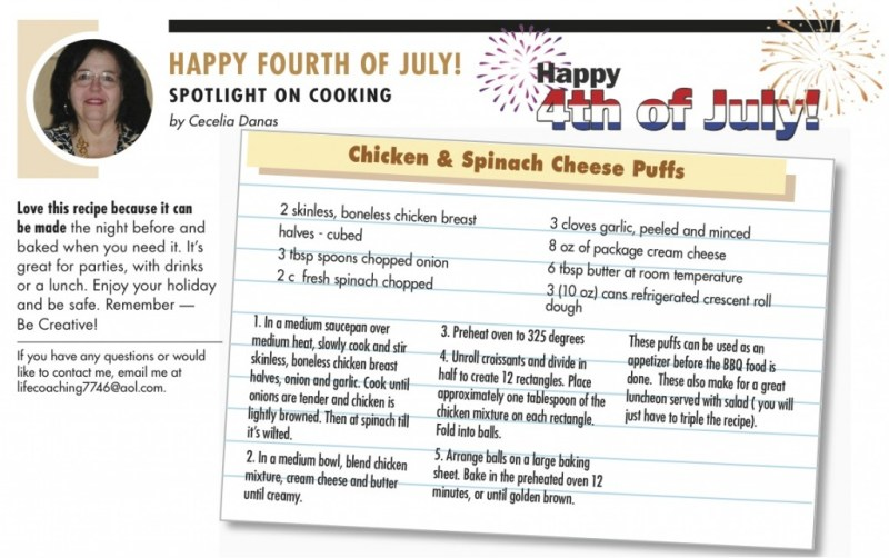 Spotlight on Cooking July 2014