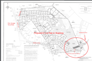 Alternate, higher density plan with roadway