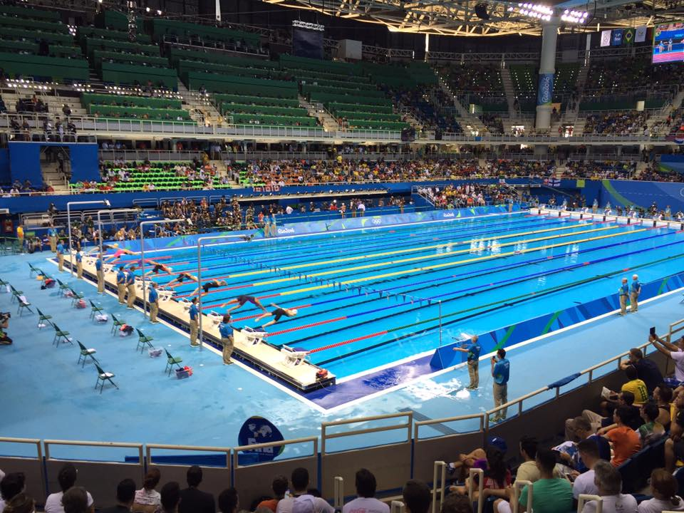 2016 Olympics Aquatics Centre during a meet early in the Games