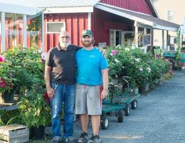Al and Patrick Lansing at the farm in 2018 (Jim Franco/Spotlight News)