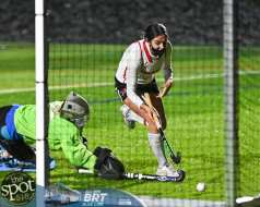Guilderland's Sophia Sericolo scores the winning goal in a sudden death shootout (JIm Franco/Spotlight News)