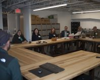 Local business leaders toured the Digifabshop facility at the Port of Albany on Oct. 1. The tour was part of National Manufacturing day and the Bethlehem Chamber of Commerce Foundation' workforce development initiative.
