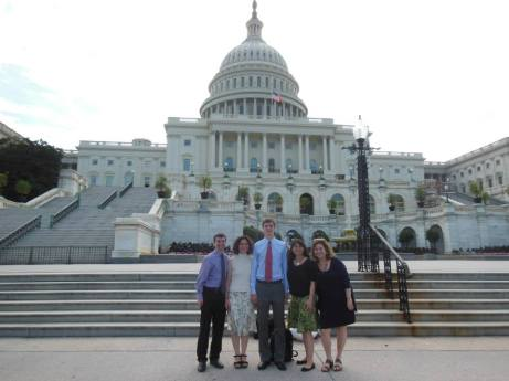 Decoding Dyslexia-NJ members and Will in front of the U.S. Capitol