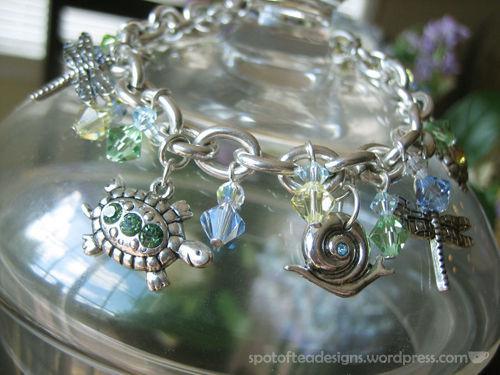 garden charm bracelet after