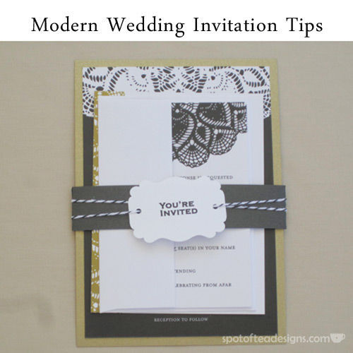Modern Wedding Intvitation Tips