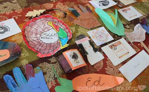 kid made #Thanksgiving placecards over several decades | spotofteadesigns.com