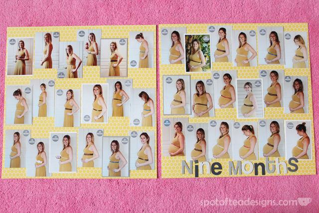 Baby Scrapbook: 9 months of weekly photos | spotofteadesigns.com