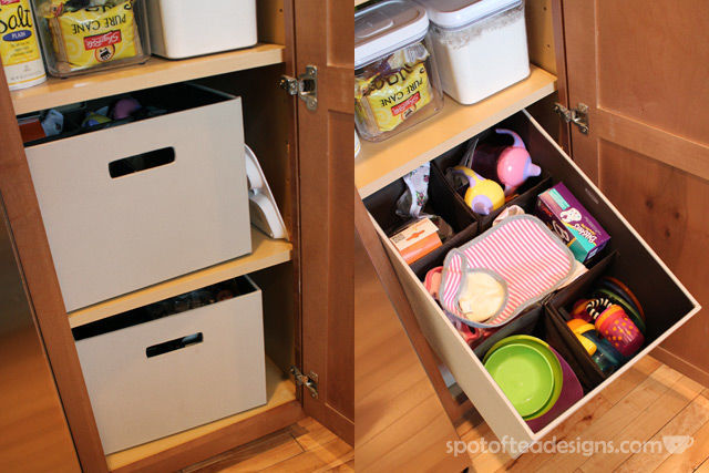 Feeding material storage solution using Rubbermaid Bento Boxes from Target | spotofteadesigns.com