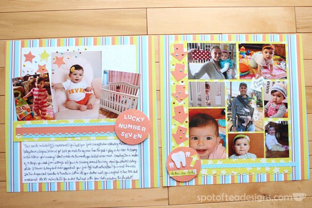 Baby Book as Scrapbook: Month 7 | spotofteadesigns.com
