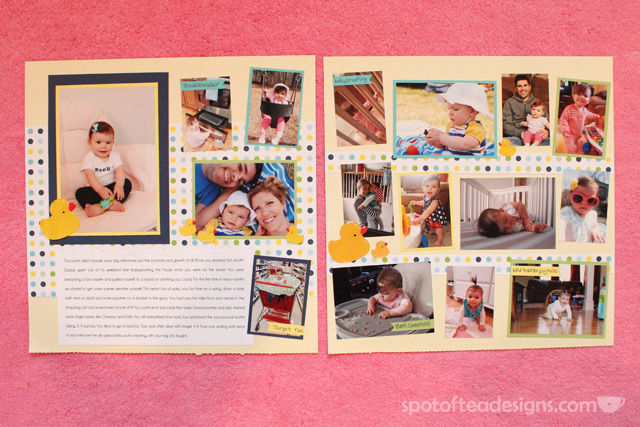 Scrapbooked Baby Book: Month 8 | spotofteadesigns.com