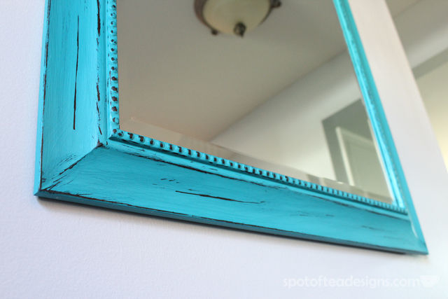 Entry Mirror Makeover with @DecoArt American Home Decor Chalky Finish Paint | spotofteadesigns.com