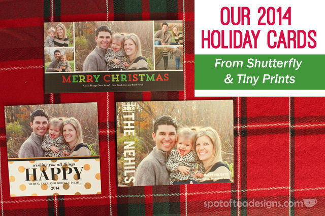 Selection of 2014 Holiday cards created on @Shutterfly and @TinyPrints | spotofteadesigns.com