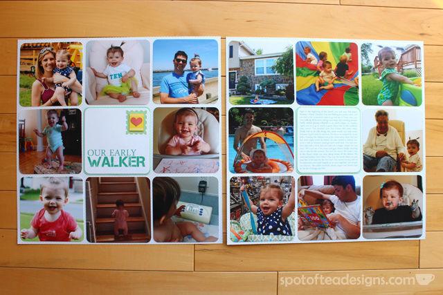 Baby Book as Scrapbook - Month 10 | spotofteadesigns.com