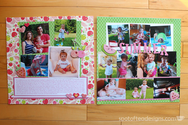 Baby Book as Scrapbook - Month 11 Summer Fun | spotofteadesigns.com