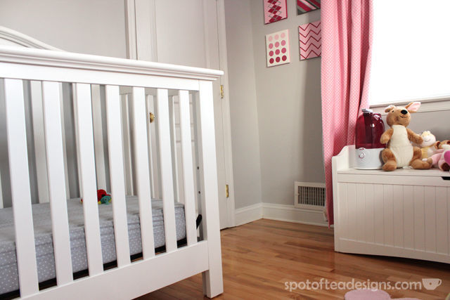 Tips to setting up your nursery to make it safer for baby and more functional for parents. Humidifer near baby. #baby #nursery #parenting   spotofteadesigns.com