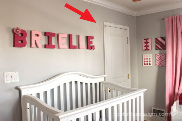 Tips to setting up your nursery to make it safer for baby and more functional for parents. Hang monitor high with Command Hook. #baby #nursery #parenting | spotofteadesigns.com