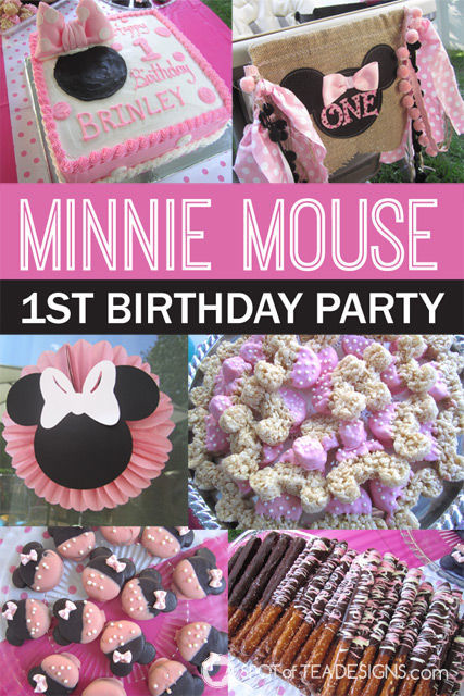 Minnie Mouse First #Birthday #Party #Disney #MinnieMouse | spotofteadesigns.com