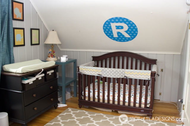 Personalized #nursery element: @NameBubbles Letter Wall Decal - repositionable and removeable! | spotofteadesigns.com
