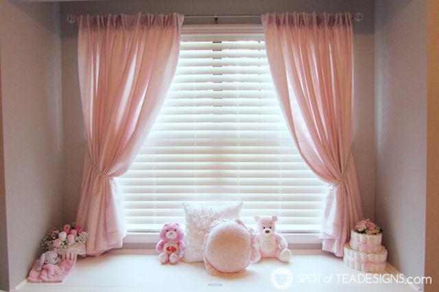 Pink, White & Grey #Baby #Nursery | spotofteadesigns.com
