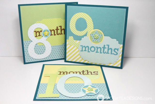 Baby's First Year Scrapbook Album Gift | spotofteadesigns.com