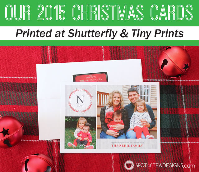 Christmas Card design from @Shutterfly and @TinyPrints | spotofteadesigns.com