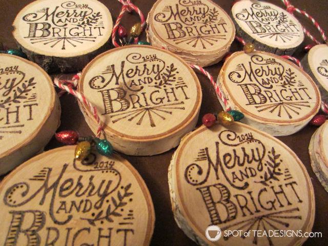 Woodburning #Christmas Ornaments Tutorial | spotofteadesigns.com