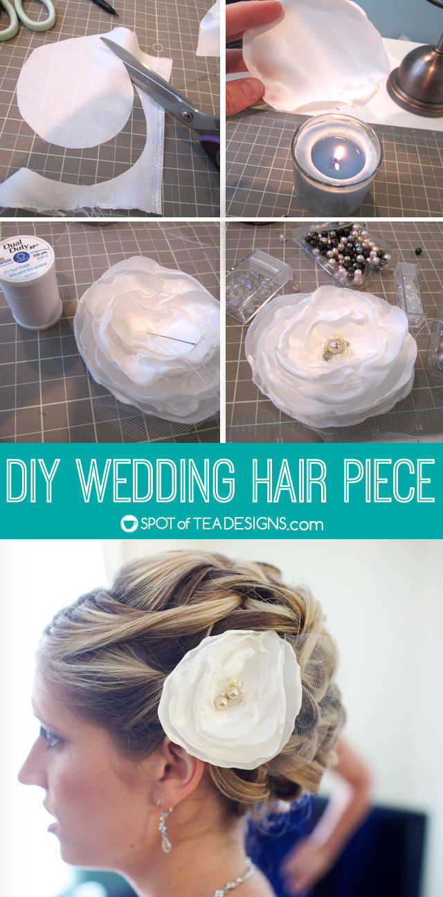 Step by step tutorial to make a DIY #Wedding Hairpiece | spotofteadesigns.com