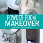 Powder Room Makeover | Reveal Photos