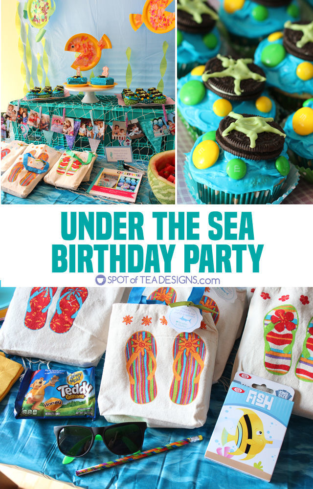 Under the sea #birthdayparty - food, activities, decorations and favors | spotofteadesigns.com