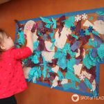 Winter Sticky Wall Contact Paper Activity for Toddlers
