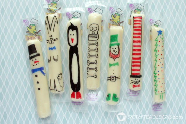Cute string cheese snack ideas for school lunches and holiday parties | spotofteadesigns.com