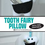 Monster Tooth Fairy Pillow with Free Template