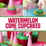 Chocolate Covered Watermelon Cone Cupcakes
