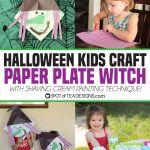 Halloween Kids Craft: Paper Plate Witch