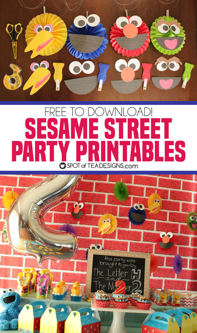 image relating to Printable Pictures of Sesame Street Characters known as Sesame Highway Social gathering Printables Desired destination of Tea Ideas