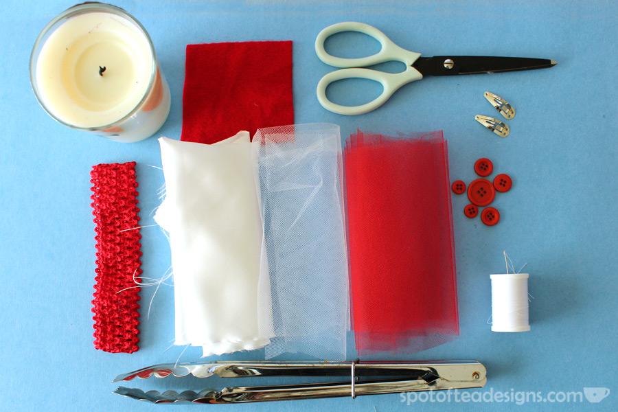 Christmas baby tutu and headband tutorial | spotofteadesigns.com
