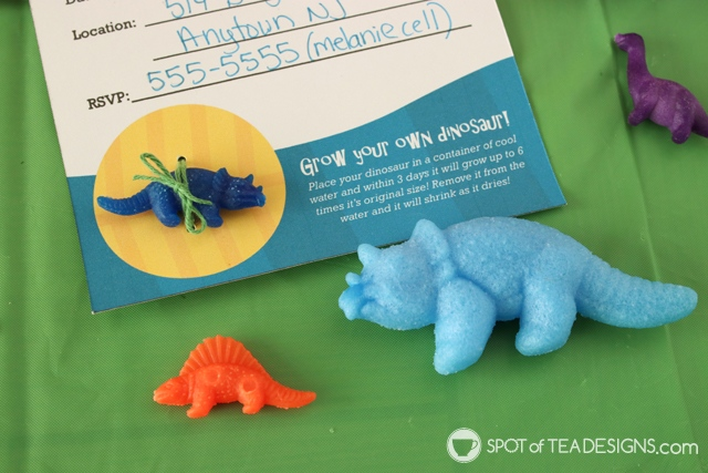 Dinosaur Party Printables - free to download for personal use | spotofteadesigns.com