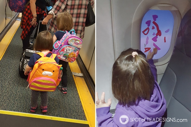 What to include inside airplane Travel Bags for Kids - age 2 | spotofteadesigns.com