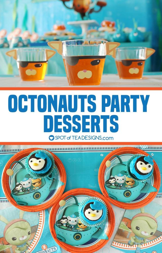 Octonauts party dessert ideas including a free printable to make a Kwazii jello cup! | spotofteadesigns.com