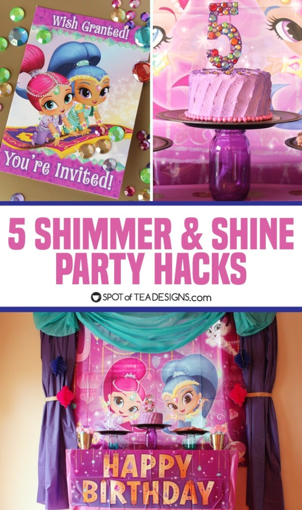 5 affordable and easy shimmer and shine party hacks | spotofteadesigns.com