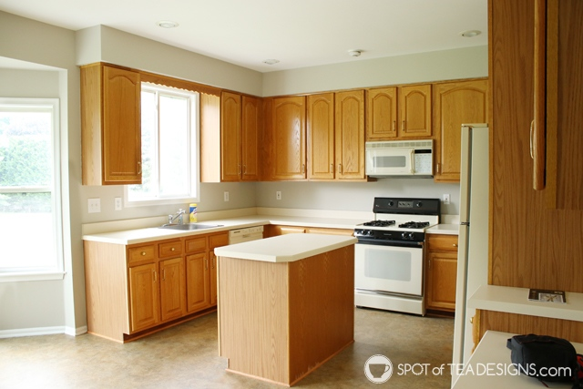 "Nehil Home Tour: the ""before"" photos -kitchen | spotofteadesigns.com"