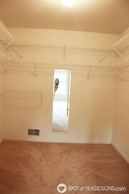 """Nehil Home Tour: the """"before"""" photos - the master closet   spotofteadesigns.com"""